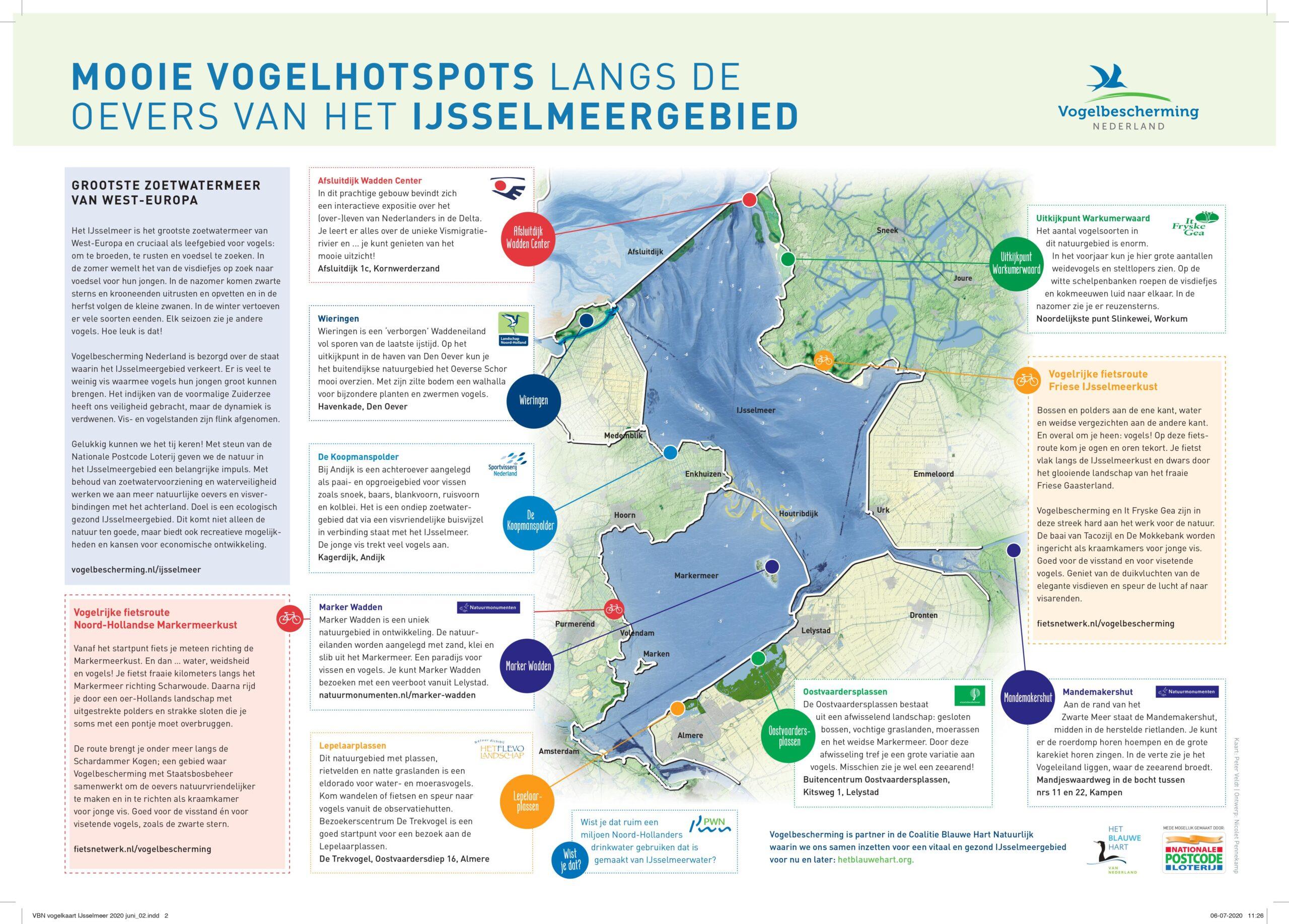 Vogelkaart IJsselmeergebied